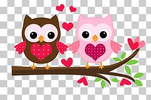 Owl Wedding Invitation Valentine's Day PNG