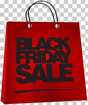 Black Friday Red Paper Bag PNG