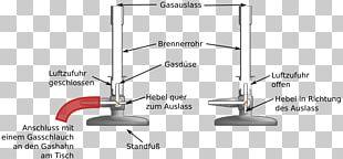 Bunsen Burner Diagram Test Tubes Laboratory Chemistry PNG
