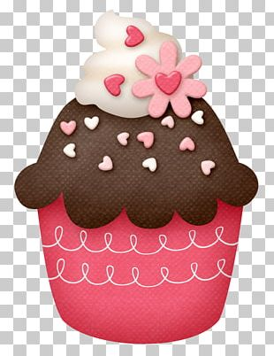 Cupcake Muffin Birthday Cake Frosting & Icing PNG