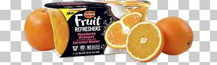 Orange Fruit Cup Juice Del Monte Foods PNG