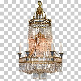 Chandelier Lighting Glass Light Fixture Candle PNG