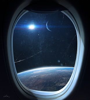 Window International Space Station Outer Space Spacecraft PNG