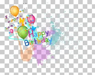 Happy Birthday Balloons Material PNG