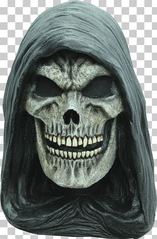 Death Latex Mask Halloween Costume Hood PNG