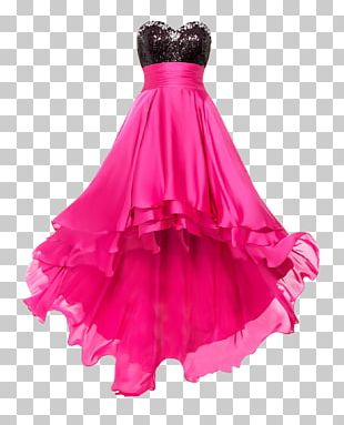Little Black Dress Pink Prom Evening Gown PNG