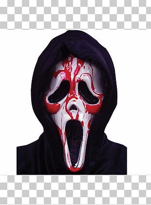 Ghostface Scream Mask Halloween Costume Theatrical Blood PNG