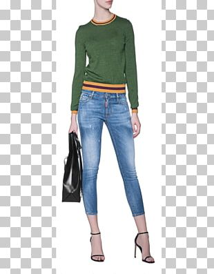 Jeans Cobalt Blue Shoulder Denim Leggings PNG