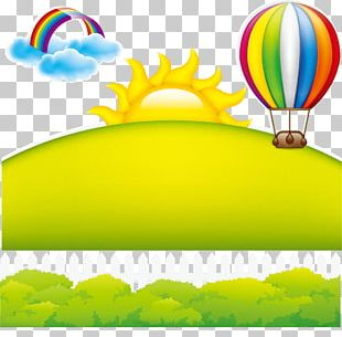 Poster Rainbow Balloon PNG