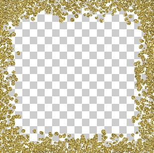 Wedding Invitation Gold Glitter PNG