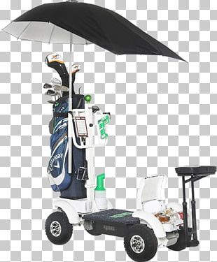 Golf Course Caddie Electric Golf Trolley Golf Clubs PNG