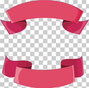 Pink Ribbon Header Box PNG