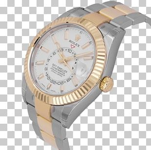 Rolex Oyster Watch Strap Gold PNG