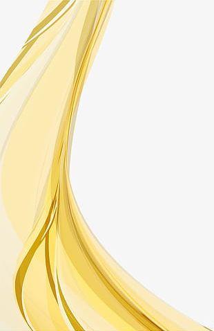 Golden Curve Pattern PNG