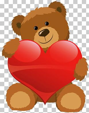 Teddy Bear Valentines Day Heart PNG