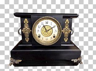 Mantel Clock Antique Ansonia Clock Company Bracket Clock PNG