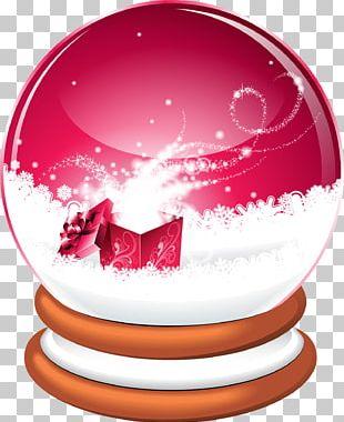 Santa Claus Christmas Snow Globes Illustration PNG
