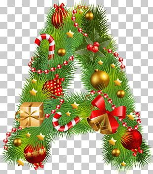 Christmas Tree Christmas Ornament Letter PNG