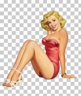 Pin-up Girl Retro Style PNG