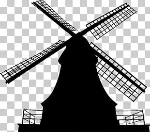 Windmill Silhouette Wind Power PNG