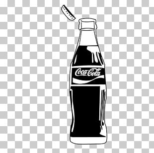 Fizzy Drinks Bottle Monochrome Black And White PNG