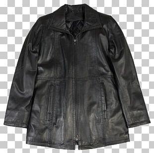 Leather Jacket Coat Flight Jacket PNG