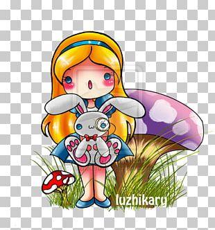 White Rabbit Drawing Chibi Fan Art PNG
