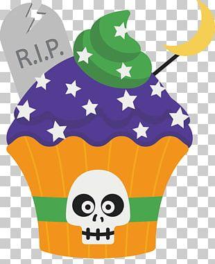 Cartoon Halloween Cupcakes PNG