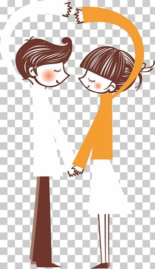 Love Couple Illustration PNG