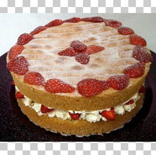 Sponge Cake Strawberry Pie Torte Cheesecake Cream PNG