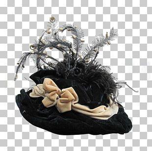 Victorian Era Party Hat Bonnet Fascinator PNG