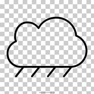 Coloring Book Drawing Rain Cloud Child PNG