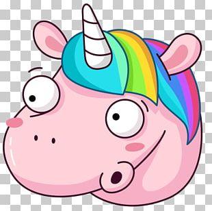 Sticker Telegram VKontakte Social Media Unicorn PNG