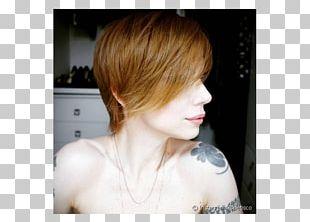Blond Pixie Cut Bangs Red Hair PNG