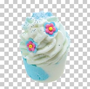 Cupcake Cream Crumble Frosting & Icing Bath Bomb PNG