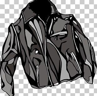 Leather Jacket Coat PNG
