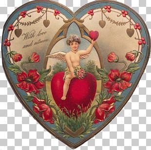 Valentine's Day Victorian Era Heart Greeting & Note Cards PNG
