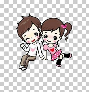 Cartoon Animation Love Drawing Couple PNG