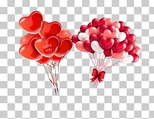 Heart Valentines Day Balloon Red PNG