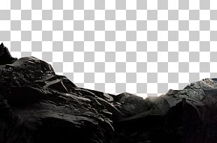 Black And White Fundal Rock PNG