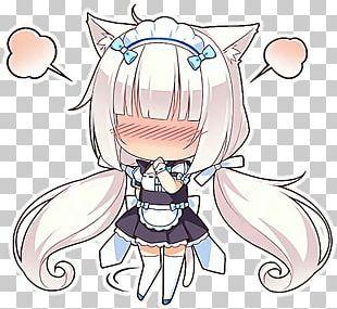 Nekopara Catgirl Anime Chibi PNG