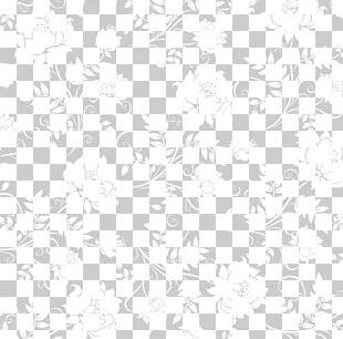 Black And White Lotus Flower Patterns PNG