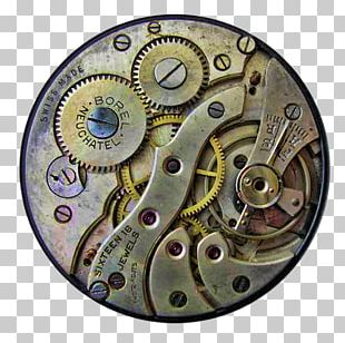 Clock Steampunk Gear Art PNG