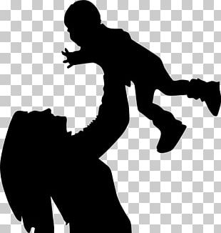 Mother Silhouette Child Son PNG