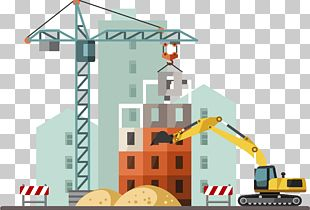Building Architectural Engineering Crane Heavy Equipment PNG