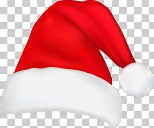 Santa Claus Hat Christmas Knit Cap PNG