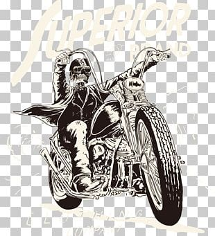 Motorcycle T-shirt PNG