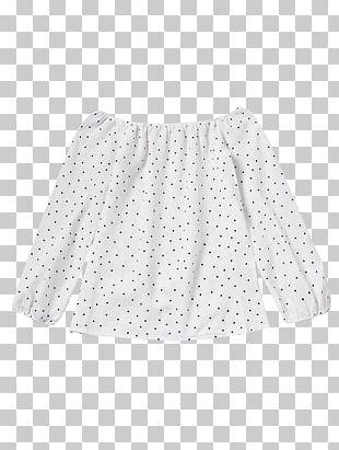 Polka Dot Sleeve Shoulder Blouse Dress PNG
