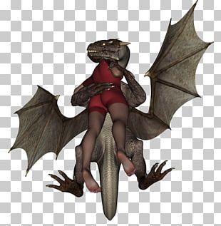 Dragon Sephia Fairy Tale Figurine PNG