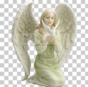 Statue Angel Figurine Cherub Prayer PNG
